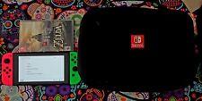 Nintendo Switch Bundle w/ Zelda Botw Case Memory Card and Joy con grip