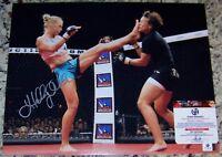Holly Holm Defeated Ronda Rousey Signed Autographed 11x14 Photo GAI GA GV COA*
