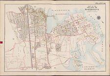 1910 G.W. Bromley Mamaroneck Westchester, N.Y. Harbor Island Copy Plat Atlas Map