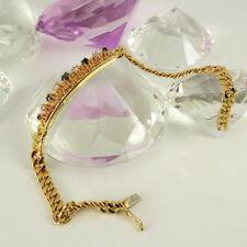Unbehandelte Armbänder im Kette-Stil aus Gelbgold mit Diamanten