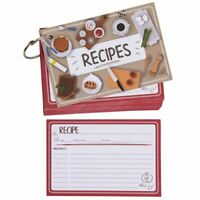 """60-Pack Double-Sided Kitchen Recipe Note Cards with Metal Ring, 4x6"""""""