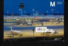 MUNICH AIRPORT EARLY MORNING VIEW LUFTHANSA 737-AERO LLOYD DC-9-LTU 767 POSTCARD