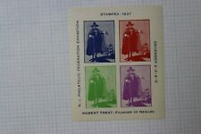 Nj Philatelic Federation Expo Stampex 1937 Robert Treat Event Souvenir Ad