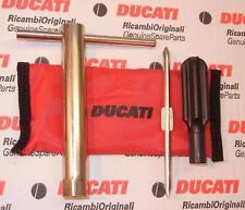 Ducati factory SMALL tool kit bag under seat, longer plug wrench & screwdriver