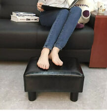 Modern Faux Leather Ottoman Footrest Stool Foot Rest Small Chair Seat Sofa Black
