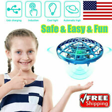 Mini Drone Hand Operated UFO Levitation LED RC Helicopter Flying Toys For Kids