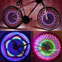 32 String Bicycle Cycling Tire Tyre Safe Flash Lights LED Bike Wheel Spoke Lamp.