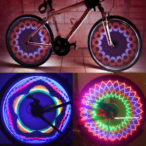 32 String Bicycle Cycling Tire Tyre Safe Flash Lights LED Bike Wheel Spoke Lamp.