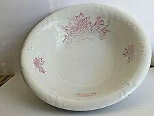 Vintage Kermit Ceramic Pink White Carnations Wash Basin Bowl (Only) 5 pounds