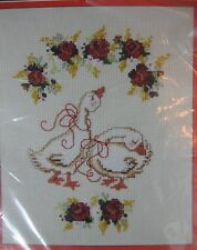 Preening Pair Sealed Counted Cross Stitch Kit Seasons of the Heart Goose Duck