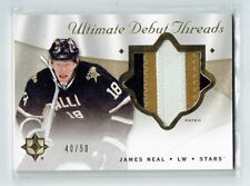 08-09 UD Ultimate Debut Threads  James Neal  /50  Patch
