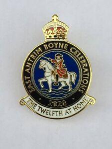 2020 East Antrim Boyne Twelfth At Home BadgeOrder Lodge Ulster Loyalist