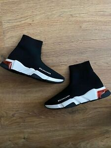 Balenciaga Speed Sock Trainers Size 5 Black, White & Red Air