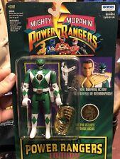 Vtg Mighty Morphin Power Rangers Tommy Green Ranger MOC Sealed Flip Head Auto