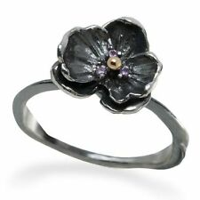 Michael Aram Orchid Silver Pink Sapphire Ring Sz 7
