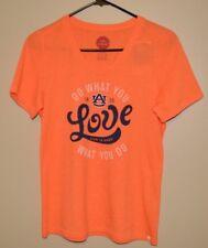 Life Is Good Auburn T Shirt Orange New NWT Size Small Womens Shirt War Eagle
