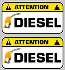 stickers ATTENTION DIESEL GASOIL CARBURANT AUTOCOLLANT 75mm