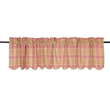 Elaine Rouge Scalloped Valance by VHC Brands - 100% Cotton,16x72