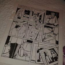 Red Calloway's Big Bang rare original interior page Paul Sharar indie comix