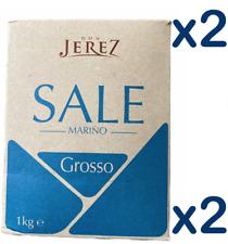 2x 1Kg ITALIAN COARSE ROCK SALT - SALE GROSSO DA CUCINA (Pack of 2)