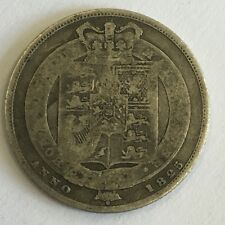 Antique George IV IIII Georgian Silver 1825 One Shilling Coin