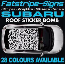 Subaru Impreza Graphics Stickers Stripes Decals WRC WRX STI Turbo 2.0 Estate
