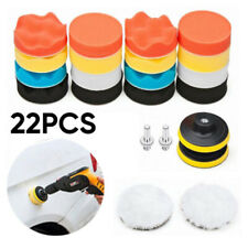 22pcs 3 Polish Polishing Buffing Waxing Pads Set Drill Adapter For Car Polisher