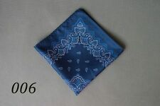 Classic Mens Silk Handkerchief Navy Paisley Floral Wedding Pocket Square Hanky