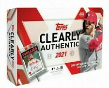 2021 Topps Clearly Authentic Baseball Factory Sealed Hobby Box