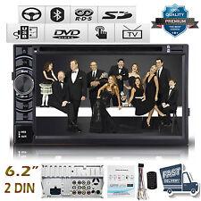 "Double 2 Din 6.2"" Stereo Car DVD Player Bluetooth Radio FM/AM SD/USB TV No Gps"