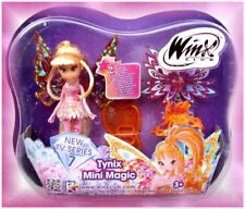 Winx Club Tynix Mini Magic Fairy Doll STELLA Movable Wings Crystal Dress