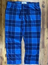 "Goodfellow & Co. Men's 2XL Pajama Pants Blue Flannel Cozy Loungers 43"" Waist NWT"