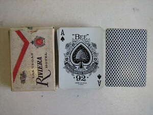 RIVIERA HOTEL CASINO BEE NO 92 CLUB SPECIAL PLAYING CARDS RARE VINTAGE LAS VEGAS