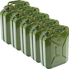 5x Oxid7® Metallkanister Metall Benzinkanister Kraftstoffkanister olivgrün 20 L