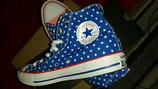 Women  Converse CT All Star Hi Trainers Blue White Stars Mens Womens  Size 39 Eu