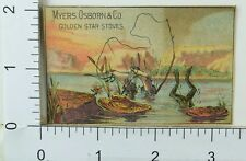 Myers Osborn & Co Golden Star Stoves Fishing Boy Falling Frog Escaping Pond F65