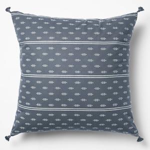 Studio McGee 20x20 Woven Dobby Square Throw Pillow Blue/Neutral Target Threshold