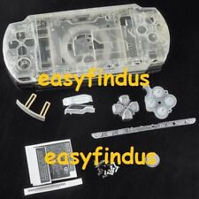 for PSP 2000 Full Housing Shell Case button door sticker transparent crystal
