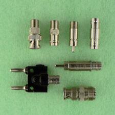 Rf Adapter Connector Lot F Type Bnc Rca Male Female Coaxial Pomona Vhf Uhf R 001
