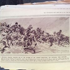 m1d ephemera ww1  1916 picture armenia duke nicholas cossacks charge turks 2 pag