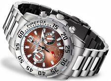 FIREFOX GLOBALIZER Herrenuhr Armband Damenuhr Chronograph kastanie braun 10 ATM