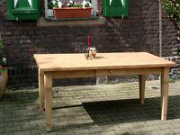 Tisch Esstisch Massivholz Küchentisch Landhaus Schreibtisch 150 mod.01 natur Neu
