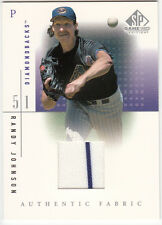 2001 UPPER DECK SP GAME USED EDITION AUTHENTIC FABRIC (RANDY JOHNSON) BV $15
