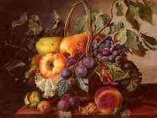 Sartorius Virginie de un Bodegón con una cesta de frutas A4 impresión