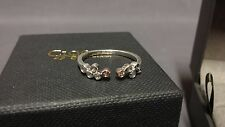 Welsh Clogau Silver & Rose Gold Celebration Stacking Ring Size N RRP £99