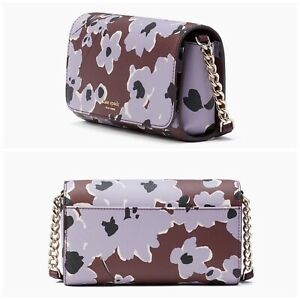NEW Kate Spade Cameron Small Flap Crossbody Handbag Purple Multi Wildflower $199