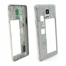 Blanc Samsung Galaxy Note 4 Rechange Boîtier Cadre Intermédiaire Châssis Facette
