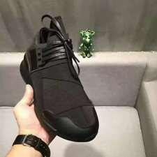 2018 Y3 Qasa High Yohji Yamamoto Light Weight Lace Up Men's White Trainers Shoes
