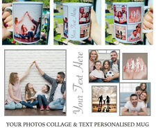 Personalised Photo Collage Mug Cup Custom Design Image Text Tea Coffee Gift