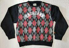 Undrcrwn hoop net diamond plaid crewneck men sz 2XL sweatshirt black